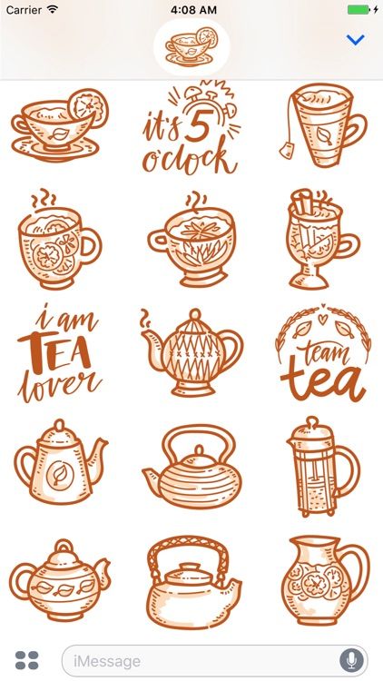 Tea time! iMessage stickers screenshot-4