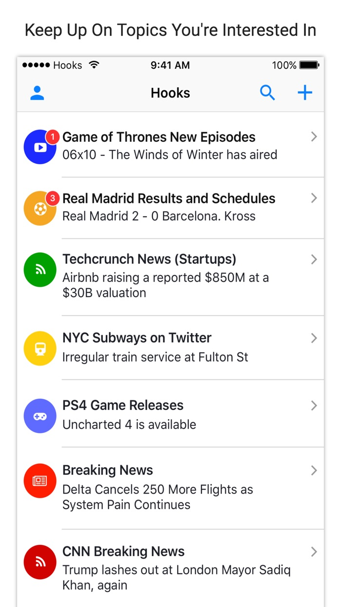 Hooks - Notifications & Alerts for Everything Screenshot