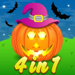 Four in One Halloween Activity games for Kids