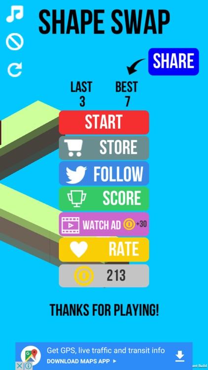 Shape Swap - Endless Running screenshot-0