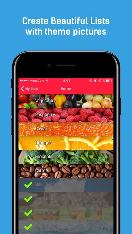Quicklist - Grocery Shopping List & Store Errands