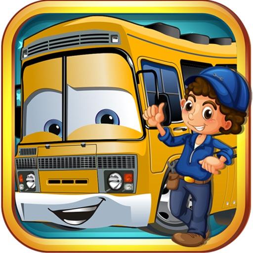 School Bus Wash And Repair - kids Game
