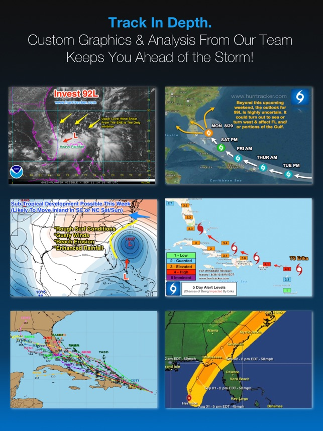 Hurricane Tracker For iPad on the