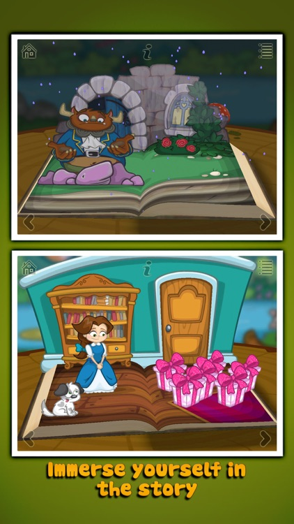 Beauty and the Beast ~ 3D Interactive Pop-up Book screenshot-4