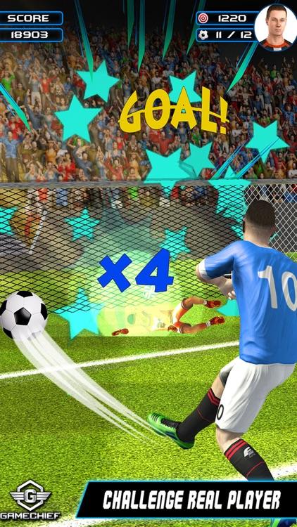 Flick Football – Soccer Goal Shootouts Pro screenshot-3