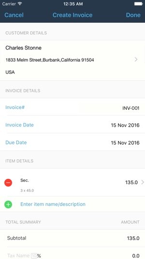 ITunes   Apple  Invoice Maker App