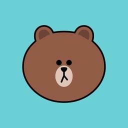 Sweet BROWN Emoji Stickers - LINE FRIENDS