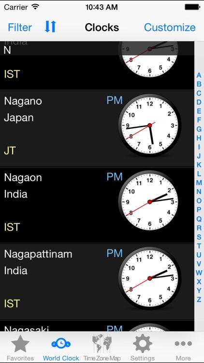 World Clock–Time Zones screenshot-3