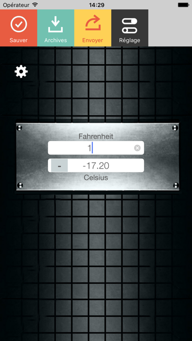 Screenshot #1 pour Fahrenheit Celsius