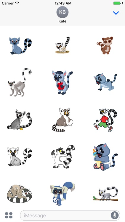 Lemurs Stickers