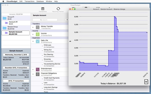 visual budget easy on the mac app store