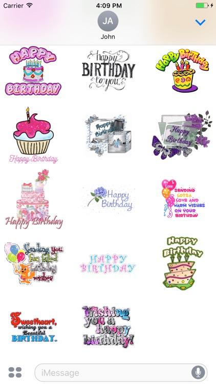 Animated Anniversary & Happy Birthday GIF Stickers screenshot-3