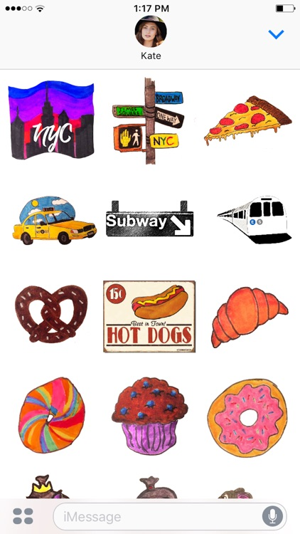 NYC doodled stickers screenshot-3