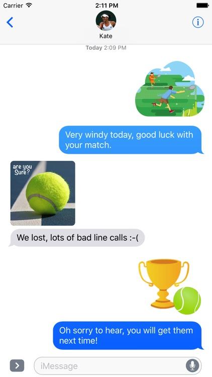 Fun Tennis Stickers screenshot-4