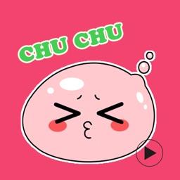 Pink Min Sticker - Cute Balloons Emoji GIF