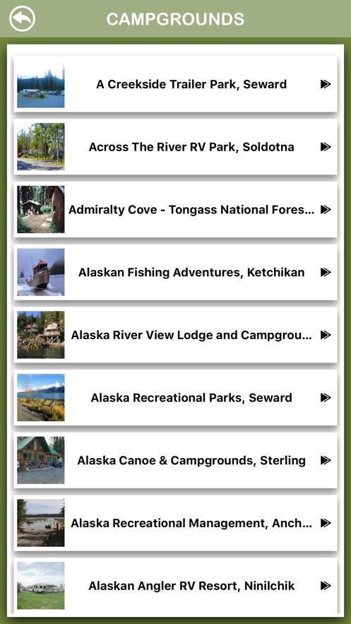 Alaska Campgrounds Offline App 截图