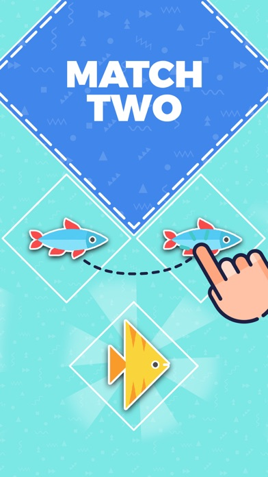 Go Merge Fish! Terrarium Game Screenshot on iOS