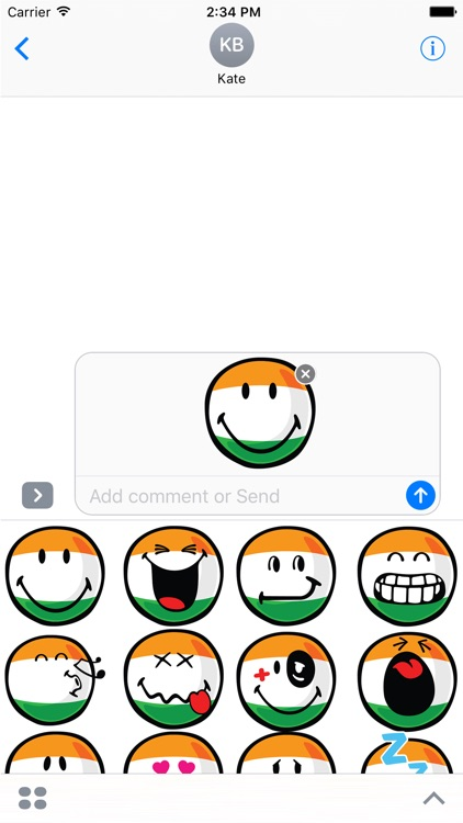 Indian Smiley Stickers