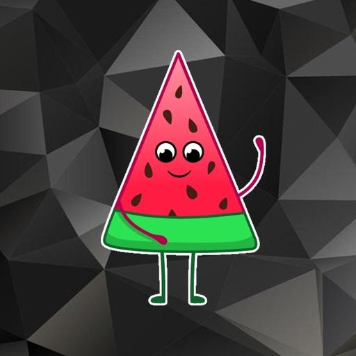 Funny Melon Stickers