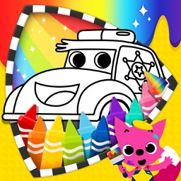 PINKFONG! Cars Coloring Book