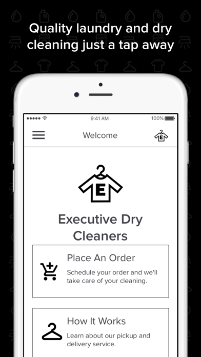 Executive Dry Cleaners screenshot one