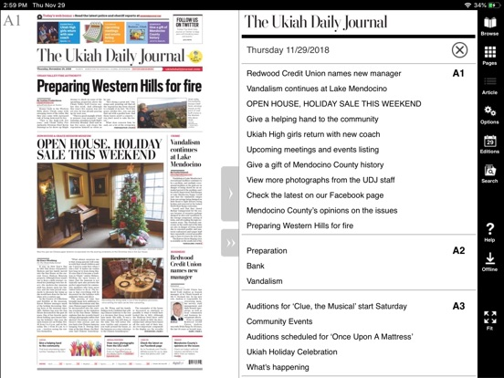 Screenshot  For Ukiah Daily Journal Eedition