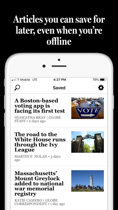 The Boston Globe review screenshots