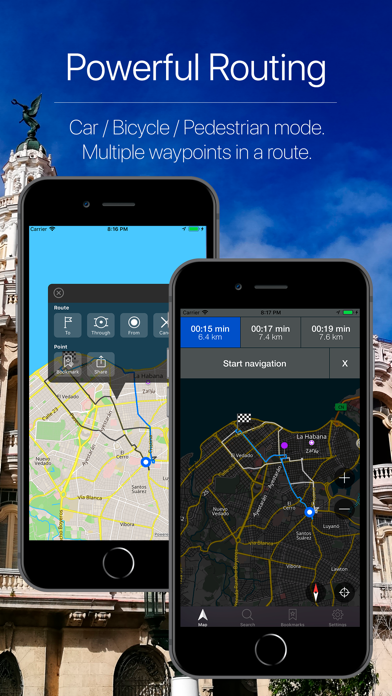 Cuba Offline Navigation Screenshot
