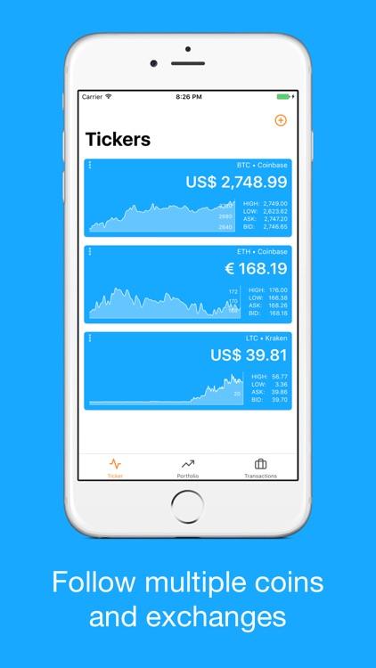 Bitfolio Crypto Portfolio screenshot-0