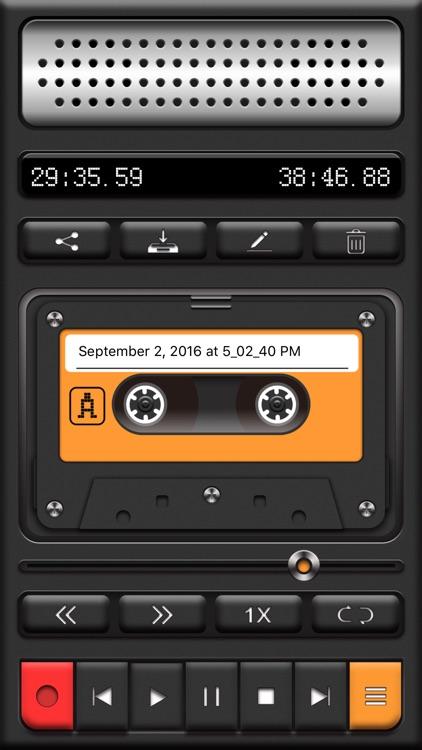 Voice Recorder PRO, Recording