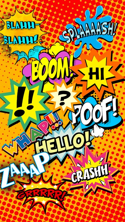Comic Word Art Stickers