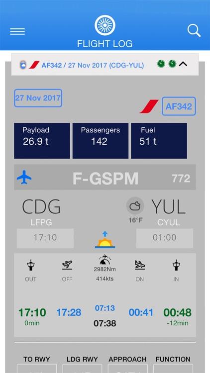 Airline Flight Log screenshot-3