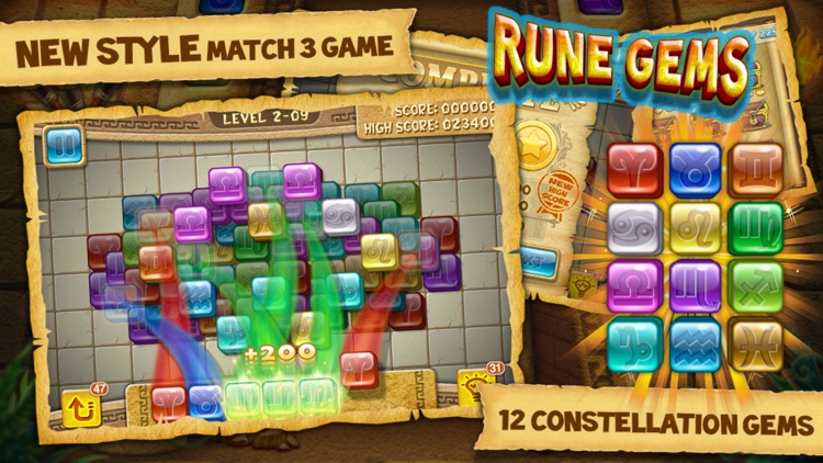 Rune Gems - Block n Tile Crush screenshot-0