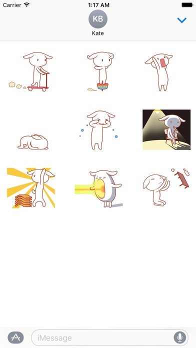 Animated Lovely Bunny Sticker screenshot 2