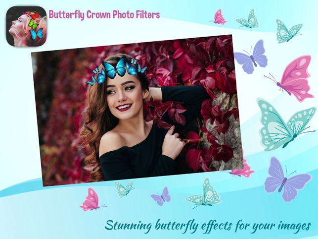 butterfly crown photo camera on the app store