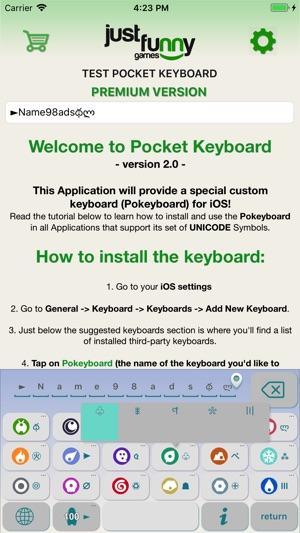 App Store Pocket Keyboard