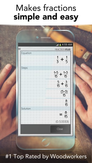 how to get fractions on iphone