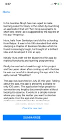 wrapitup text summarizer on the app store screenshots