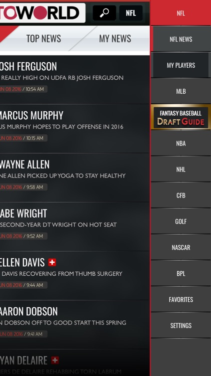 Rotoworld Fantasy News & Draft Guides screenshot-3