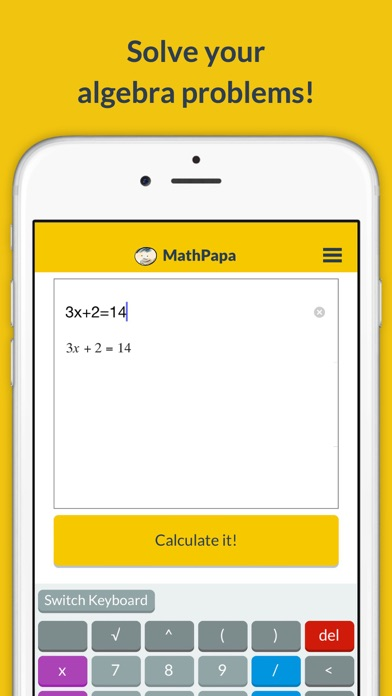 MathPapa - Algebra Calculator Screenshot
