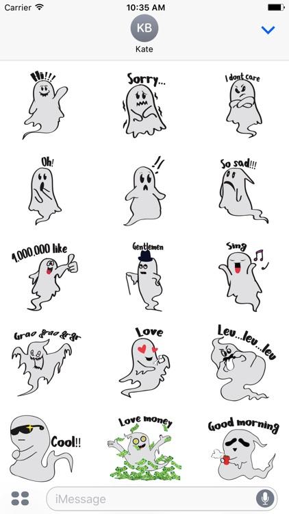 Cute ghost emojis & stickers