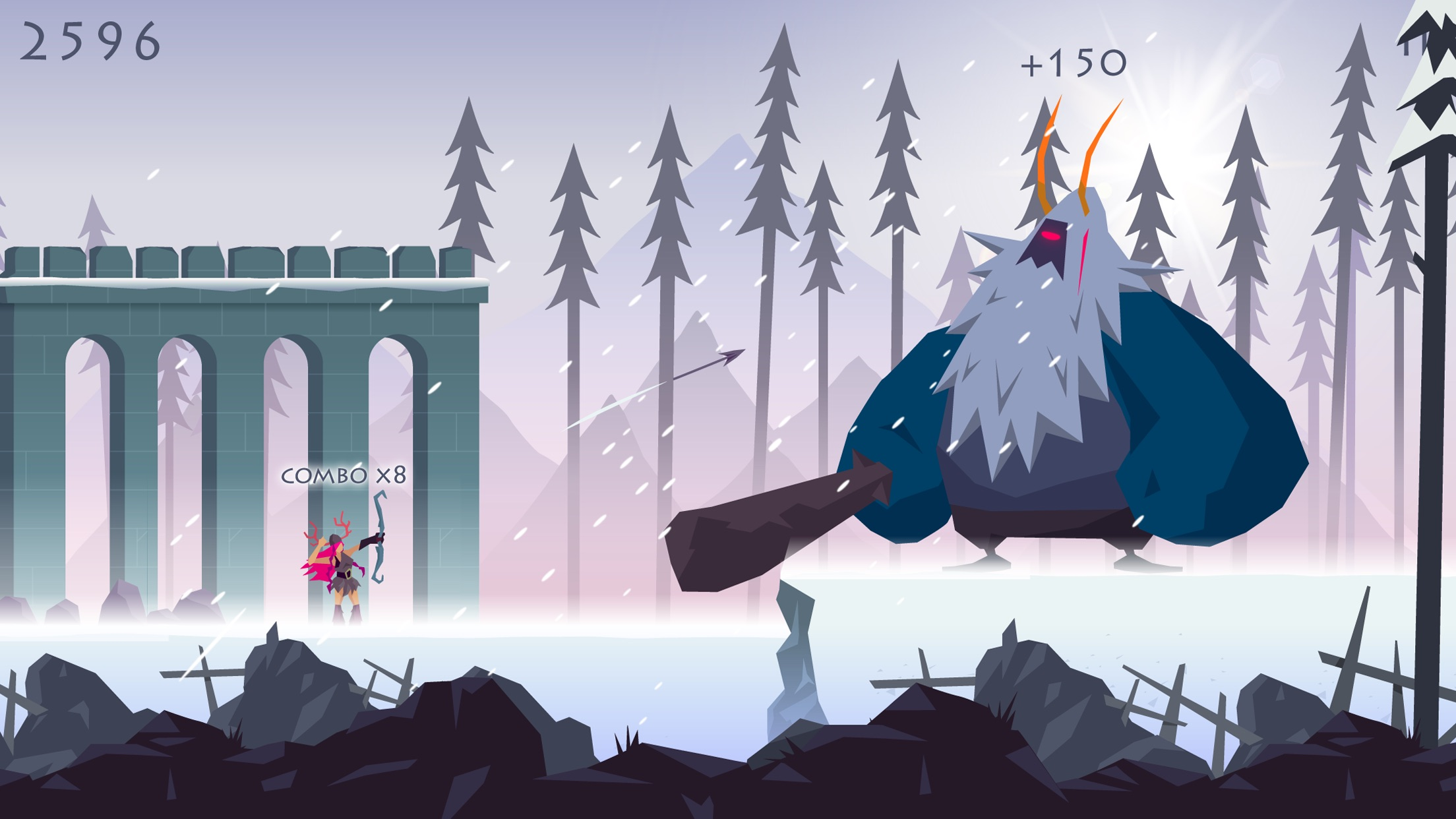 Screenshot do app Vikings: an Archer's Journey