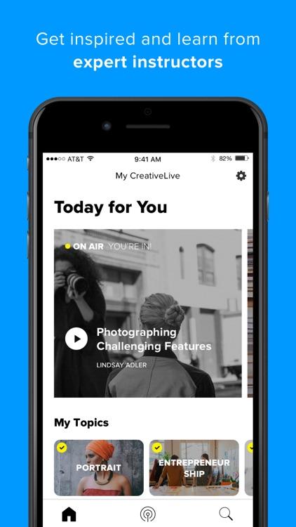 CreativeLive: online classes screenshot-0