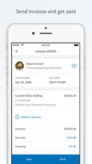 PayPal Business Send Invoices On The App Store - How to create an invoice paypal