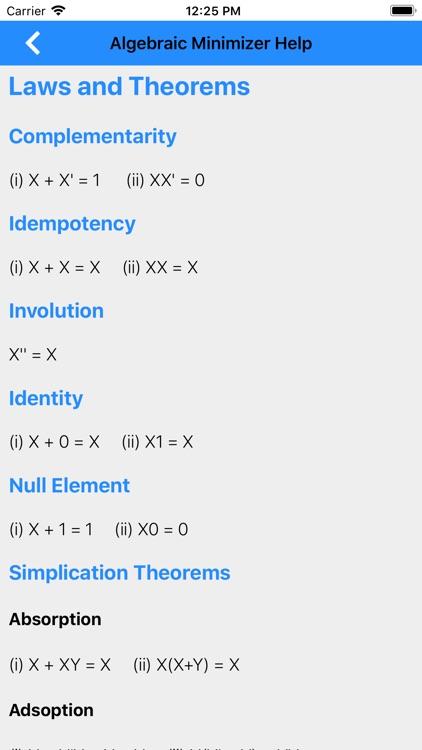 Karnaugh & Algebraic Minimizer screenshot-9