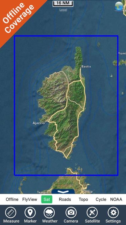 Boating Corsica Nautical Chart screenshot-4