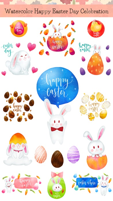 Watercolor Easter Day Stickers screenshot 1