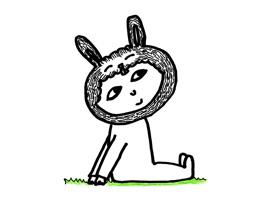 Hand Drawn Rabbit Boy Sticker Pack for iMessage