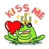 Funny Green Frog Prince Emoji