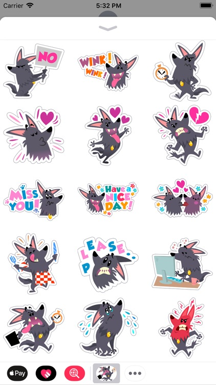 Cute Funny Dog Comic Stickers
